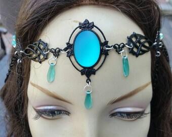 Emerald Circlet of Nature's Magic elven druid priestess bridal celtic cosplay