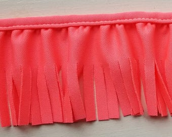 Scuba fringe ruffled in hot pink for baby blankets, couture, decor 12 yards