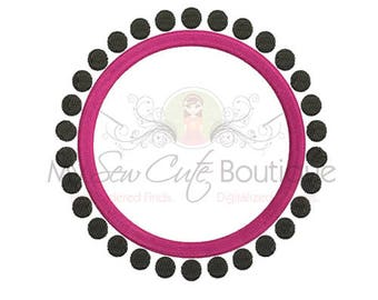 Embroidery Frame Designs Machine Monogram Circle PES Files - Embroidery Pattern - 14 Sizes - Instant Download