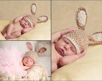 Crochet Bunny Hat, Baby Bunny Hat, Baby Girl Hat, Baby Boy Hat, Crochet Baby Hat, Newborn Bunny Hat, Easter Hat, Newborn Photography Prop