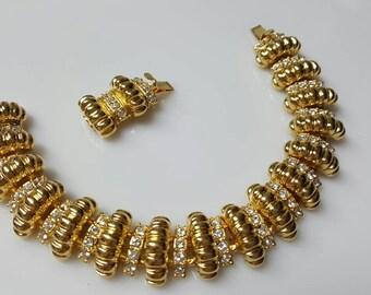 JBK Bracelet Camrose and Kross Reproduction 19kt Gold plate Mint Condition