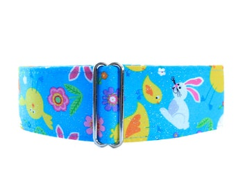 Easter Martingale Collar, Easter Chicks Martingale Collar, Easter Dog Collar, Easter Chicks Dog Collar, Greyhound Collar