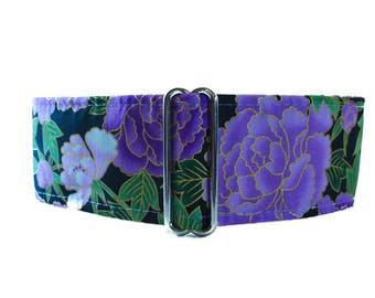 Purple Martingale Collar, 2 Inch Martingale Collar, Asian Martingale Collar, Purple Dog Collar, Asian Dog Collar Martingale Collar Greyhound