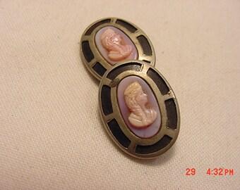 One Antique Cameo Cufflink For Re Purpose 16 - 914