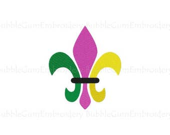 Mardis Gras Fleur de Lis Embroidery Design Instant Download