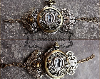 Key hole locket Watch cuff