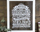 Mother's Quote Papercut/Mother's Day Gift/Present For Mum/Wall Art/Framed Papercut/Mother From Daughter/Son/Family