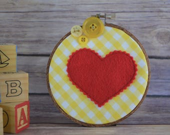 yellow heart hoop