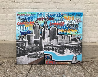 CLE GRAFF No. 26 on Canvas 24 x 30