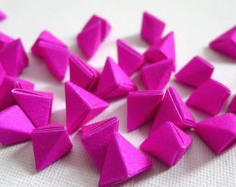 50 Fushcia Pink - Magical Fairy Dust Korean Origami Lucky Stars a.k.a. Origami Crane Eggs