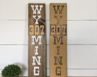 Wyoming Art - Wyoming Pride - Rustic Wall Decor - Home Decor - State Art - Wyoming Cowboys