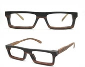 20% OFF very square Ebony Never Handmade Wooden Takemoto Brown prescription  RX Sunglasses