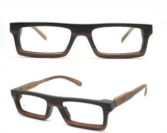 20% OFF very square Ebony Never Handmade Wooden Takemoto Brown prescription  RX Sunglasses