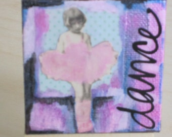 Mini Mixed Media Collage Dancer With Easel