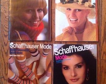 Vintage Schaffhauser Mode Knitting Magazine Lot Instructions Patterns