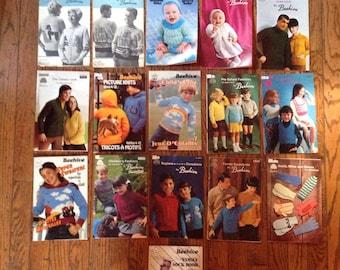 Vintage Patons Beehive Canadiana Crochet Knitting Magazine Lot Instructions Patterns