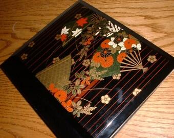 PHOTO ALBUM - Lacquerware - Japan - Flowers - Picture Album - Japanese