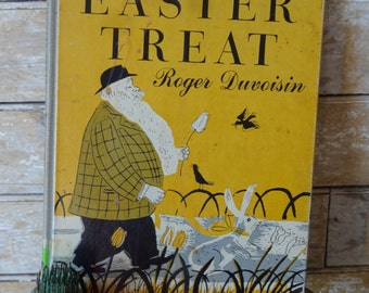 Vintage Easter Treat Roger Duvoisin Christmas Childrens Book 1954 Vintage Hardcover