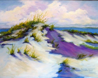 Beach Dunes, oil painting, 14x18 by Alexandra Kopp