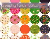 Fat eighth W/SOLIDS complete bundle of Sleeping Porch by Heather Ross for Windham fabrics- 25 pieces