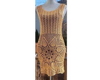 Crochet beach dreess / Crochet mandala dress/ Beachwear Cover up /Size S/Ready to Ship