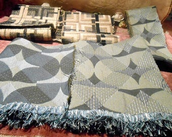 Vintage Fabric Upholstery Weight Remant Scraps
