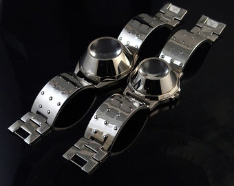 vintage unsex wrist watch Hi Tek London Alexander Cyber Goth Cyber Punk style unusual gift for him gift for her 2 sizes