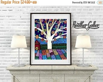 50% Off Today- TREE art Art Print Poster by Heather Galler (Hg872)