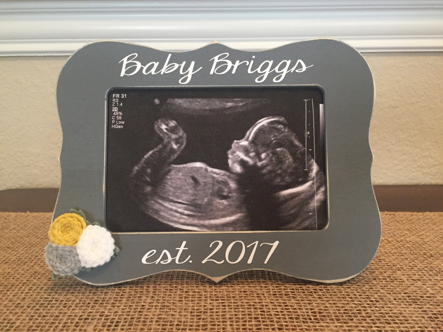 Baby est frame love at first sight frame ultrasound picture baby est frame love at first sight frame ultrasound picture frame were pregnant baby announcement jeuxipadfo Images