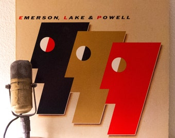 """ON SALE ELP (Keith Emerson, Greg Lake and Cozy Powell) 1986 Progressive Rock and Roll """"Emerson, Lake & Powell"""" (1986 Polygram w/""""The Score"""")"""
