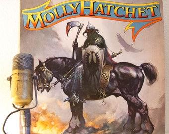 "ON SALE Molly Hatchet Vintage Vinyl LP 1970s Classic Southern Rock Electric Guitar Lp ""Molly Hatchet"" (Original 1978 Cbs w/""Dreams I'll Neve"