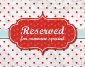 Reserved Listing for Terrie M