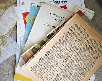 Paper Ephemera Grab Bag/75-100 Pc. Mixed Lot Vintage Books Journal Pages Clip Art Paper Scraps For Mixed Media Projects, Journals Decoupage