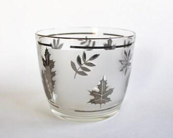 Vintage 1950's Leaf Design Bar Ice Bucket 1950's Mid Century Barware!