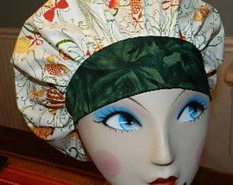 Old Fashion Christmas Ornaments  Banded Bouffant Surgical Cap