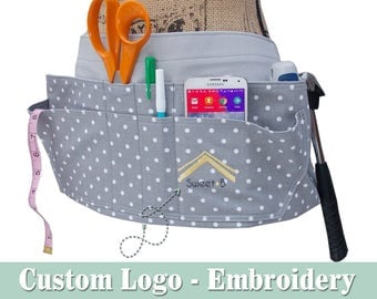 Tool Belt • Women's Tool Belt • Custom DIGITIZED and EMBROIDERED LOGO • Durable, Functional & Classy • Quality • Choose Your Fabric