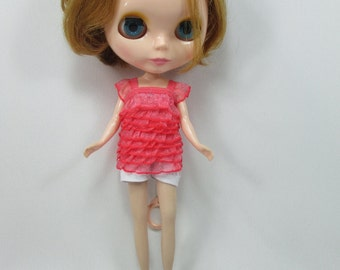 Handmade clothing a top layer blouse for Blythe,Pullip doll  A-1
