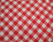 Red Gingham Sew Cherry Fabric by the Yard Lori Holt