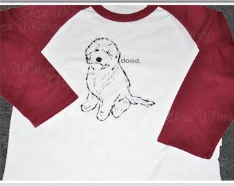 Goldendoodle Tshirt, Dood Shirt, Love My Dood Baseball Raglan, Doodle Mom Shirt, Doodle Baseball Shirt, Goldendoodle Shirt, Doodle Mom Shirt