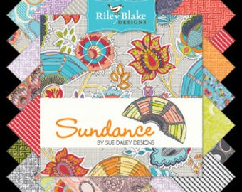 Sundance Extra Large Jelly Roll by Riley Blake,  Fabric, 42 pieces, 2.5 inch Strips, Bin O