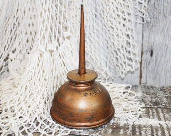 Eagle Oil Can, Copper Plated, Vintage Oil Can