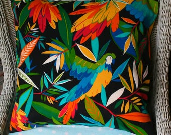 NEW Beautiful  Tropical Parrot  Pillow Cover-Housewares-Home Decor-Beach Indoor Outdoor