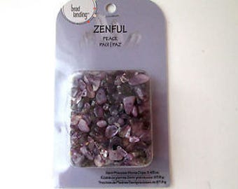 Amethyst Semi-Precious Stone Chip Beads for Stringing Pre-drilled LOVELY Purple 3.4oz Shipping Included