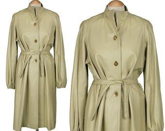 vintage BONNIE CASHIN coat • 1960s neutral leather designer coat
