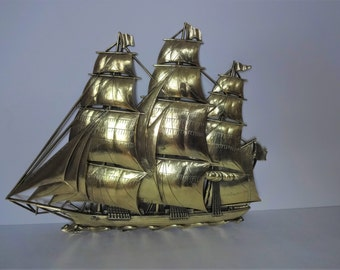 "21"" High Clipper Ship Boat by Syroco Vintage 1962"