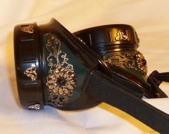 Green goggles costume victorian steampunk