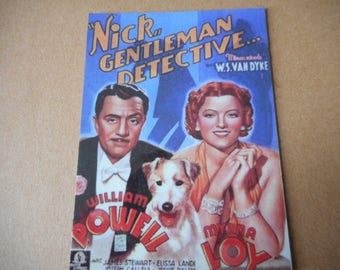 Magnet- Thin Man movie Nick Gentleman Detective with William Powell Myrna Loy  Nick and Nora Charles James Stewart