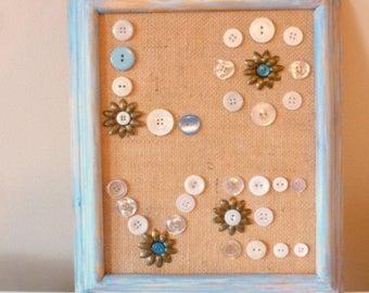 LOVE Button Art, Wall Decor, Shabby Chic Love Sign, Wedding Decor, Framed Button Decor, Button Artwork