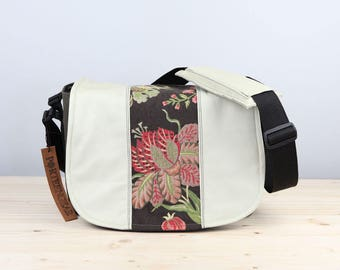 Large Black Vintage Floral Camera Bag Satchel - IN STOCK