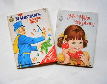 My Magic Telephone and The Magician's Counting Book, Two Vintage Children's Books